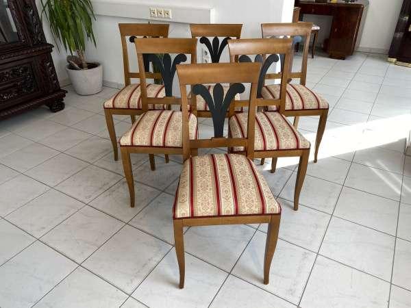 traumhafte Biedermeier Fächersessel Sitz Ensemble Stühle A2530
