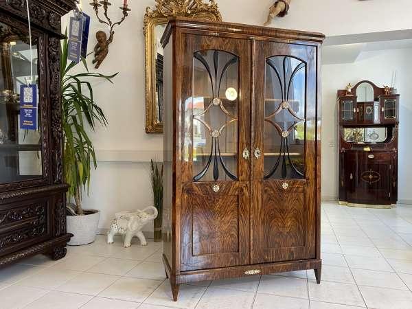 restaurierte Biedermeier Vitrine Glasschrank Traumexemplar A2699