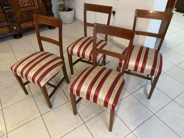 Ensemble hübscher Kolonial Stil Sessel Stuhl 4 er Set A2333