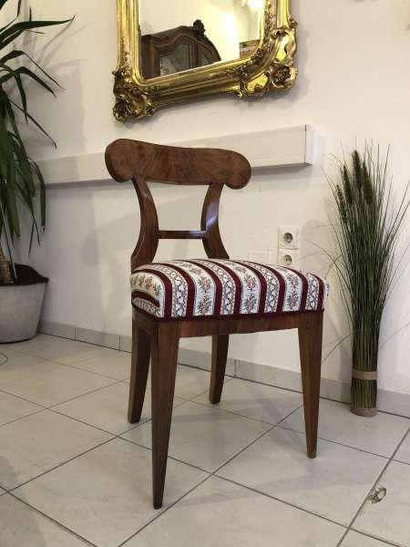 Biedermeier Sessel Nussholz Schaufelsessel Original Z1363