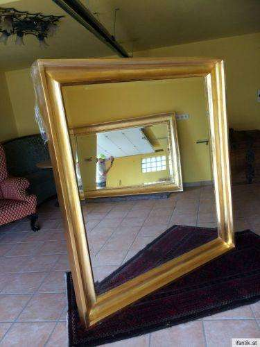 Biedermeier Spiegel Wandspiegel Original vergoldet - 8285