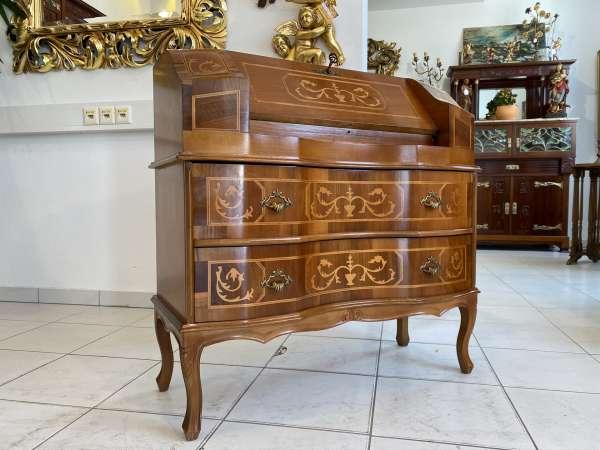 hübscher Sekretär Schreibtisch Barocker Stil Wurzelholz E1880