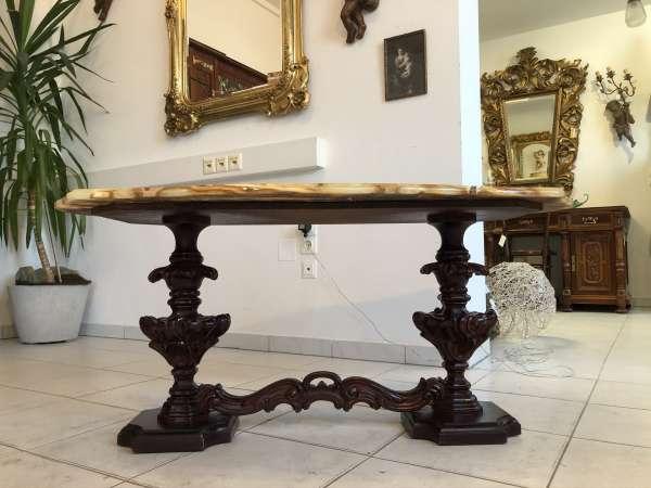hübscher Barockstil Couchtisch Tisch Marmortisch Wohntisch Z2330