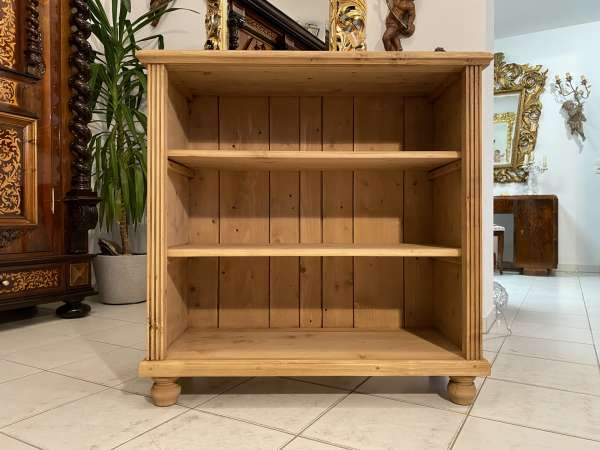 bäuerliche Stellage Bücherschrank Naturholz A2295