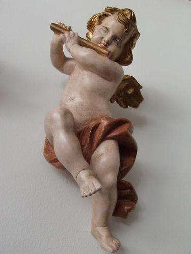Engel mit Flöte - golden wundervolle Arbeit Traum 8348