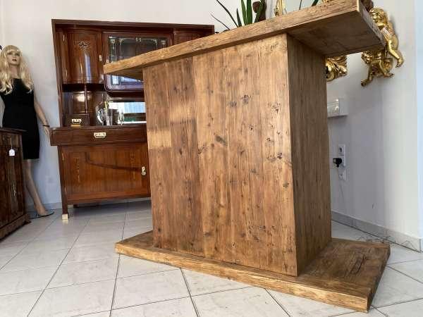 urige bäuerliche Bar Anrichte Altholz Bauernholf Theke Verkaufspult E2211