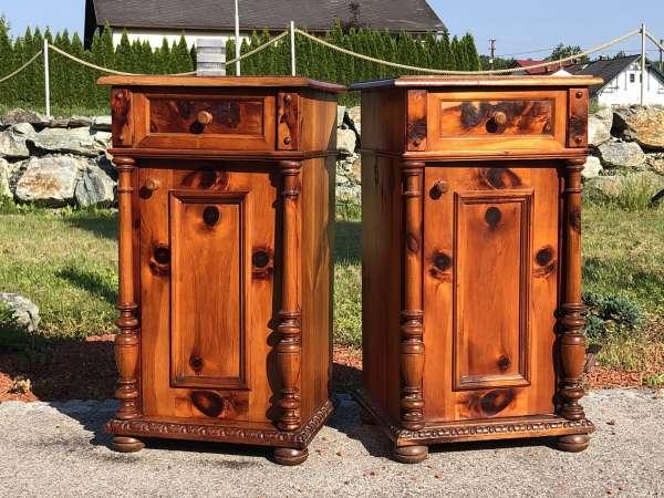 2 originale bäuerliche Gründerzeit Nachtkasterl Zirbenholz Z1663