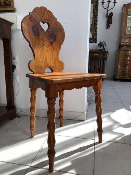 uriger Bauernsessel Sessel Stuhl Herzerlsessel Zirbenholz X1480