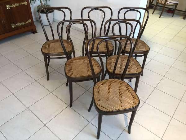hübsches Ensemble Bugholzsessel Speisezimmerstühle Sessel E1124
