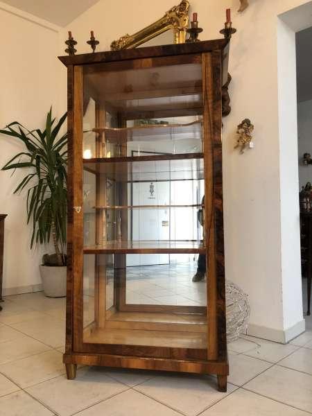 restaurierte Biedermeier Vitrine Bücherschrank Glasschrank Z1265