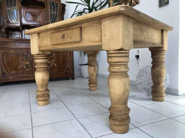 massiver Bauerntisch Tisch Landhaustisch Naturholz E1634