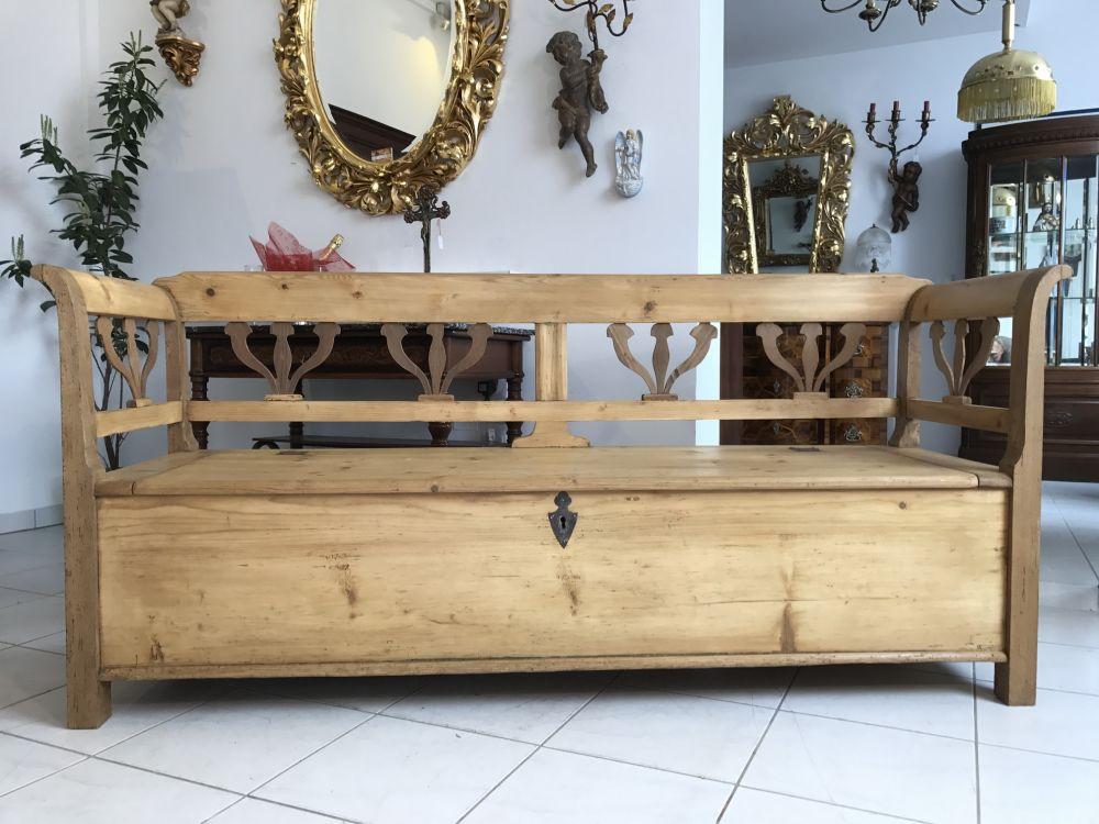 truhenbank antik k chenbank sitzbank landhausstil weichholz w1582 ebay. Black Bedroom Furniture Sets. Home Design Ideas