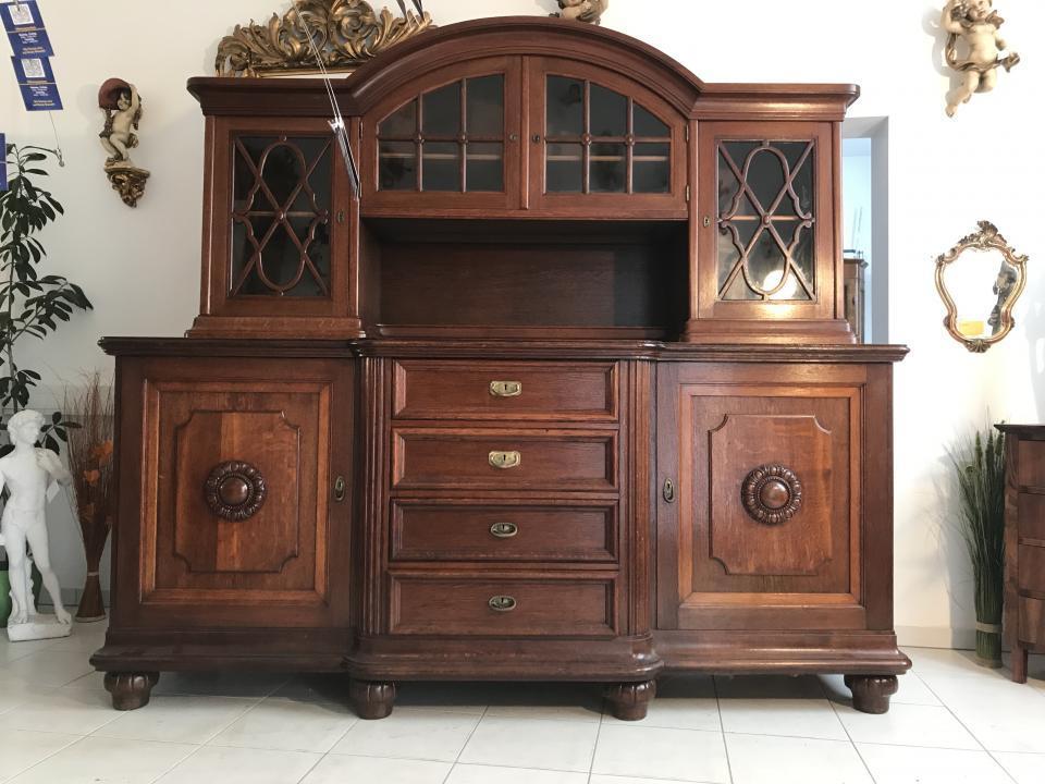 gro e vitrine b cherschrank jugendstil aufsatzkredenz buffet w3030 ebay. Black Bedroom Furniture Sets. Home Design Ideas