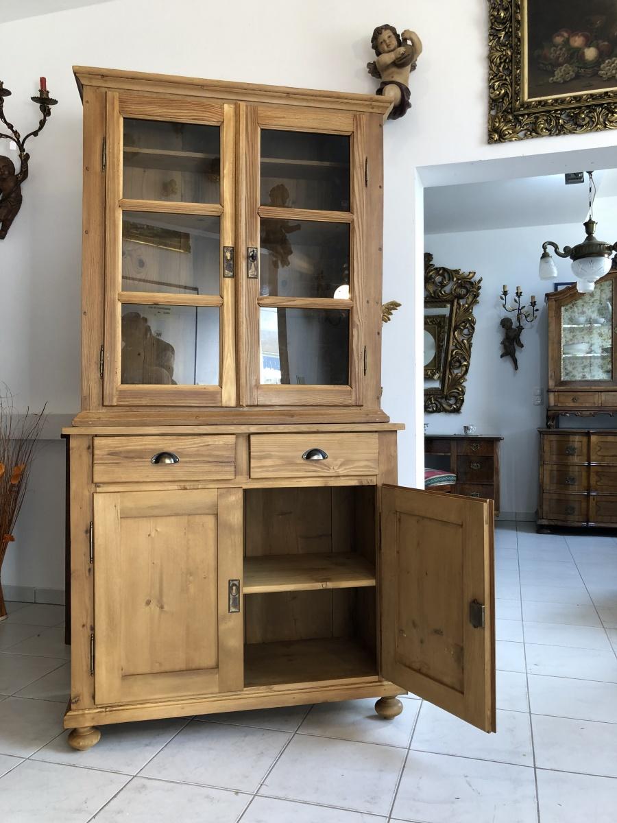 eleganter küchenschrank naturholz fichtenholz - kredenz