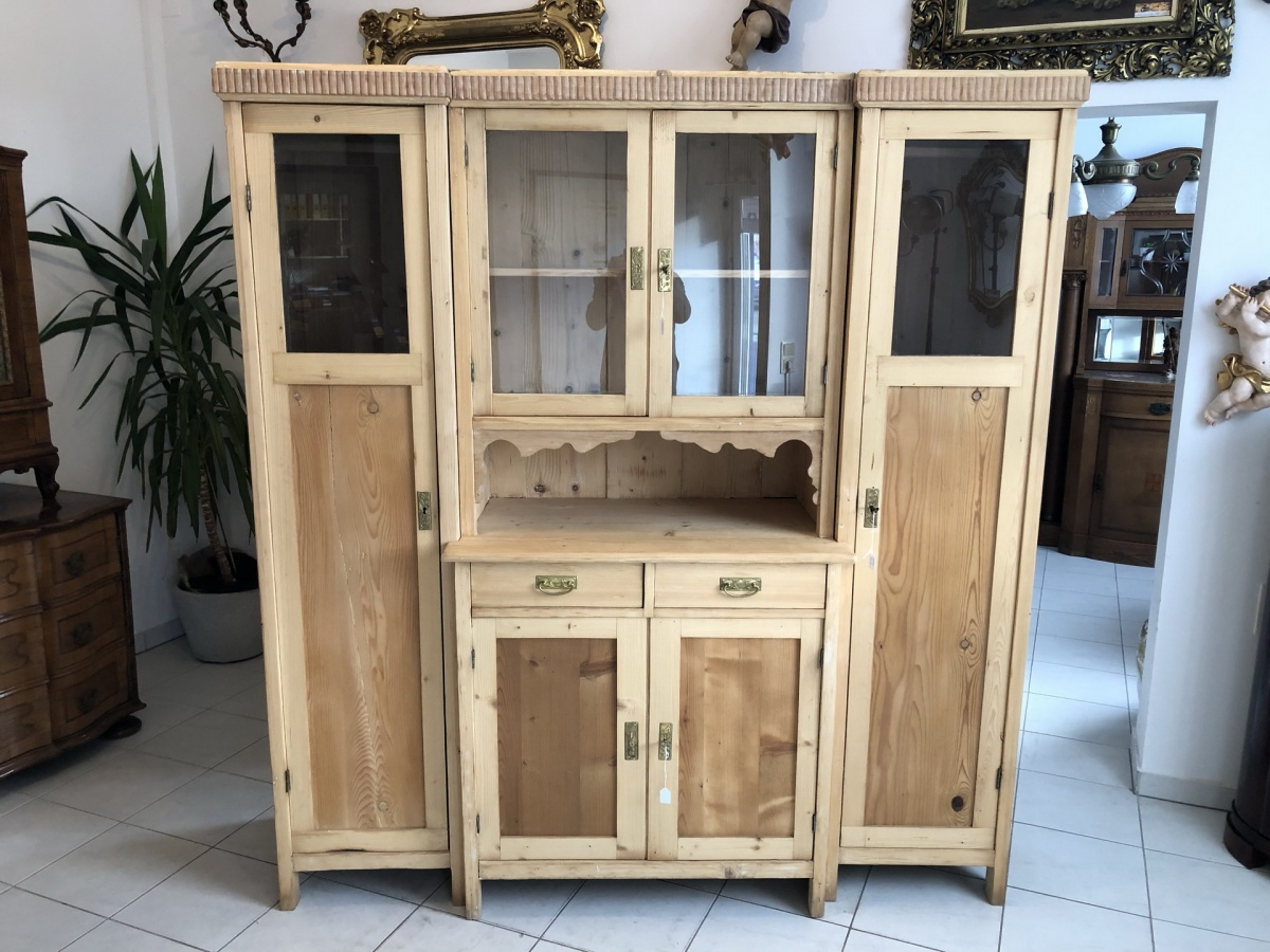 jugendstil küchenschrank naturholz garderobeschrank